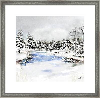 Seeley Montana Winter Framed Print by Susan Kinney