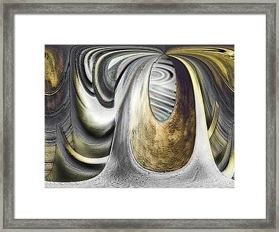 Framed Print featuring the digital art Seen In Stone by Wendy J St Christopher