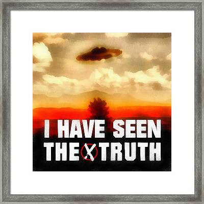 Seen The Truth Framed Print by Esoterica Art Agency