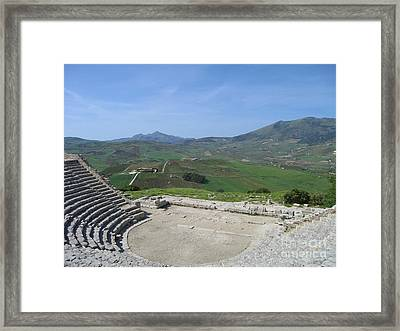 Segesta In Spring  Framed Print