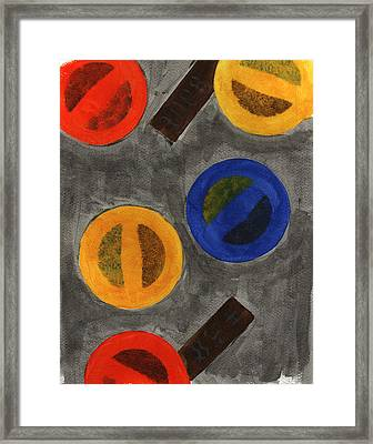 Segments 1 Framed Print by David Townsend