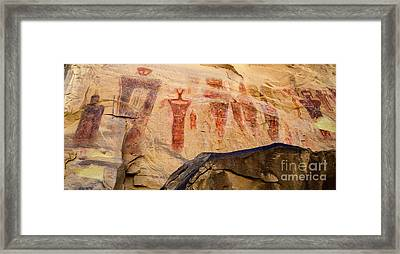 Sego Petroglyphs Utah 3 Framed Print by Bob Christopher