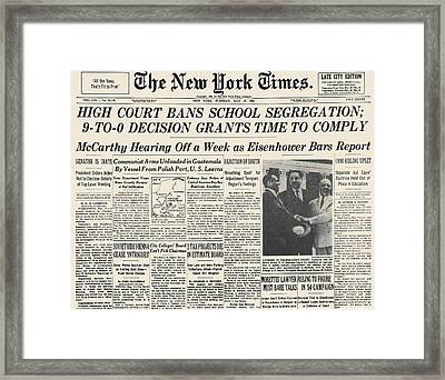 Segregation Headline, 1954 Framed Print by Granger