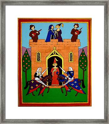 Seige Of The Castle Of Love Framed Print by Stephanie Moore