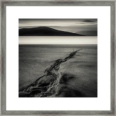 Seilebost Sand Tracks Framed Print