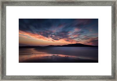 Seilebost Sunset Framed Print by Dave Bowman