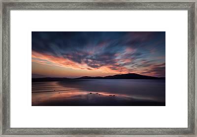 Seilebost Sunset Framed Print