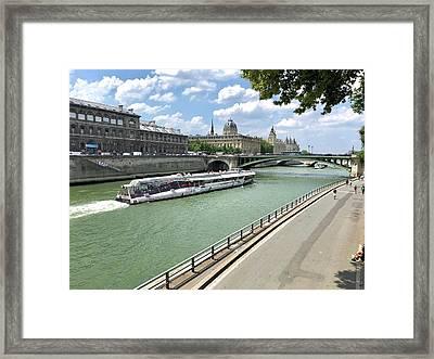 River Seine In Paris Framed Print