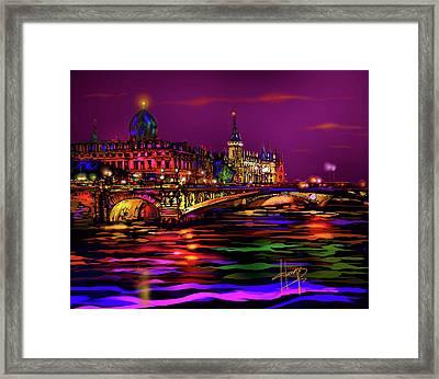 Seine, Paris Framed Print by DC Langer