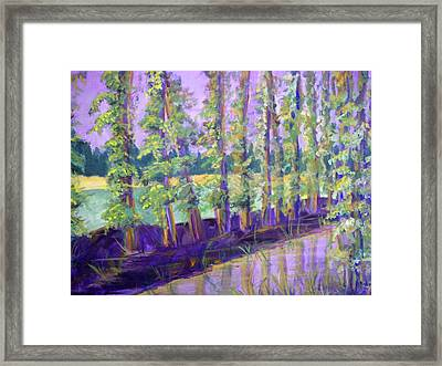 Seine River Framed Print by Made by Marley