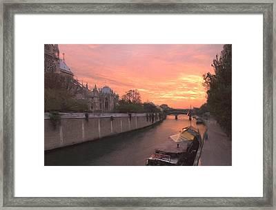 Seine River Framed Print