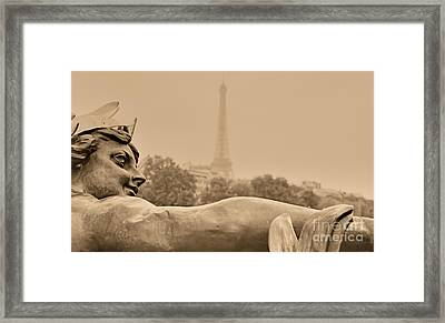 Framed Print featuring the photograph Seine Spirit by Nigel Fletcher-Jones