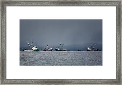 Seiners Off Mistaken Island Framed Print by Randy Hall
