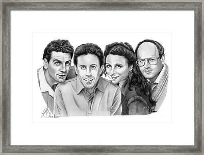 Seinfeld Cast Framed Print by Murphy Elliott