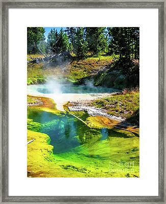 Seismograph Pool In Yellowstone Framed Print