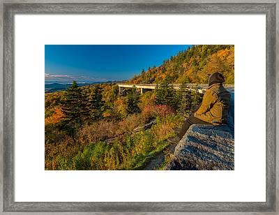 Seize The Day At Linn Cove Viaduct Autumn Framed Print