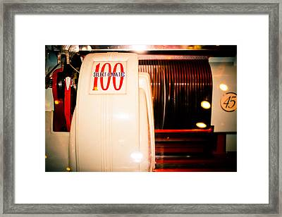 Select-o-matic 100 Framed Print by Colleen Kammerer