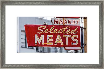 Selected Meats Framed Print