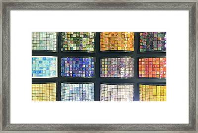 Selection Of Decorative Tiles Framed Print by Tom Gowanlock