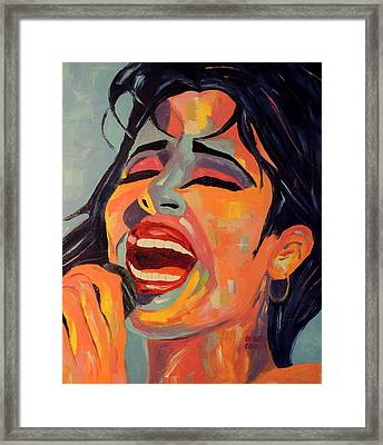Selena Framed Print