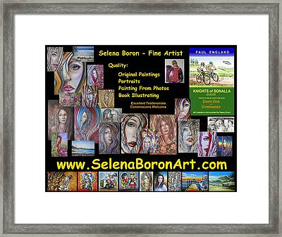 Framed Print featuring the painting Selena Boron Photo Card 1 by Selena Boron