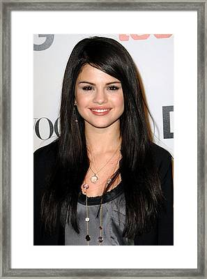 Selena Gomez At Arrivals For Seventh Framed Print