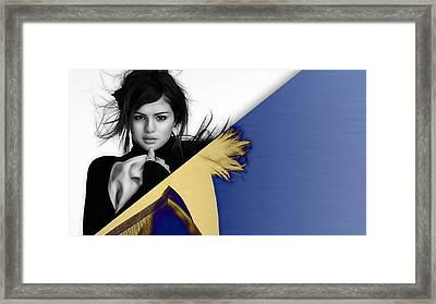 Selena Gomez Collection Framed Print by Marvin Blaine