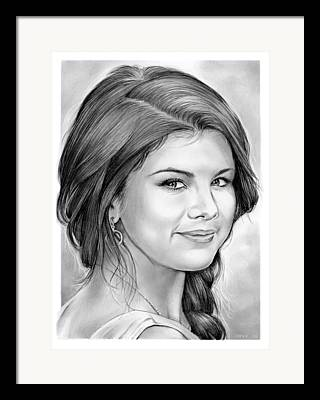 Actress Drawings Framed Prints