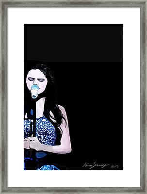 Selena Gomez Framed Print by Kevin Sweeney