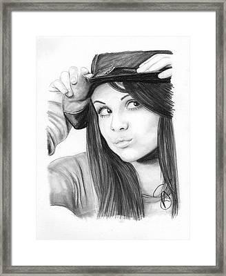 Selena Gomez Framed Print by Rosalinda Markle