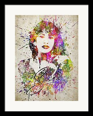 Madonna Digital Art Framed Prints