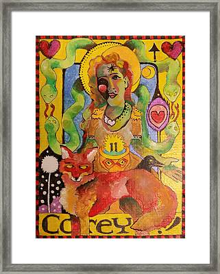 Self Iconography Exploration Framed Print