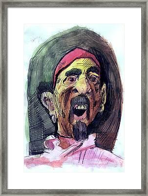 Self In Pirate Mask Framed Print by John Baker