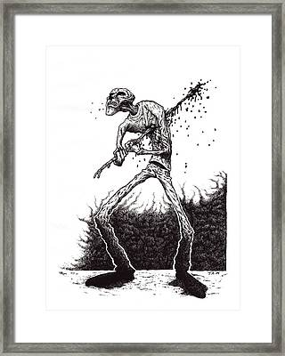 Self Inflicted Framed Print by Tobey Anderson