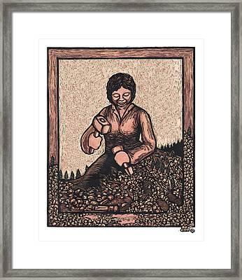 Self Made Woman Framed Print by Ricardo Levins Morales