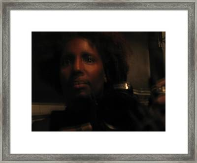Self Portait Framed Print by Hasani Blue