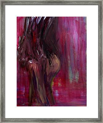 Self Portrait-1 In Pink Framed Print by Julie Lueders