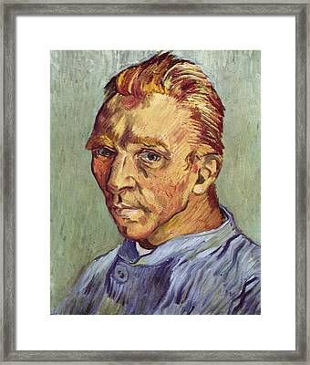 Self Portrait 1889 Without Beard Framed Print by Vincent Van Gogh