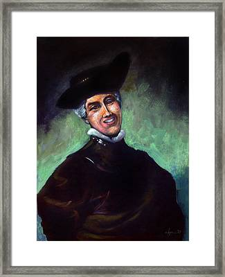 Self Portrait A La Rembrandt Framed Print