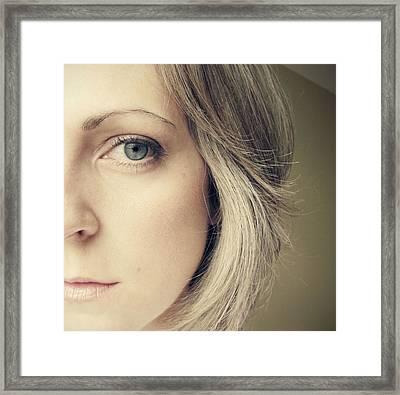 Self-portrait Framed Print by Amy Tyler