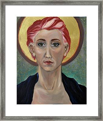 Self Portrait As A Common Saint Framed Print by Amy Rouyer