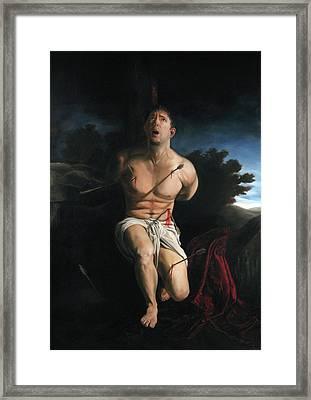Self Portrait As St. Sebastian Framed Print