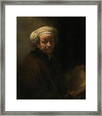 Self-portrait As The Apostle Paul Framed Print