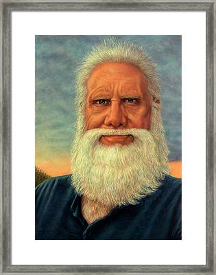 Self-portrait As The Sun Goes Down Framed Print by James W Johnson