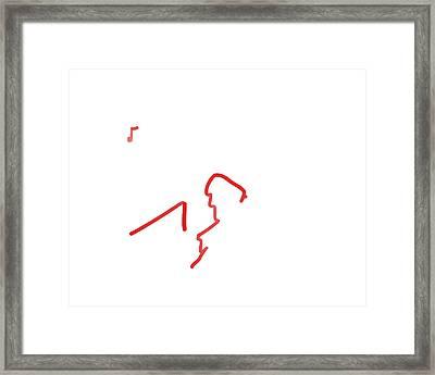 Self Portrait At The Piano Framed Print by David Bridburg