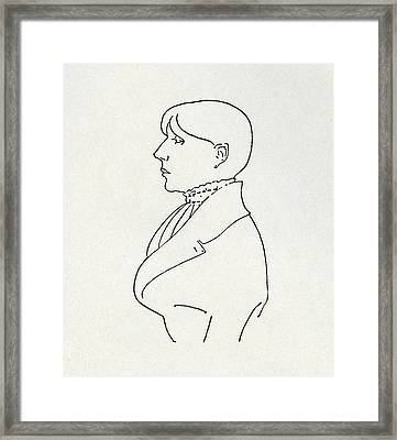 Self Portrait Framed Print by Aubrey Beardsley