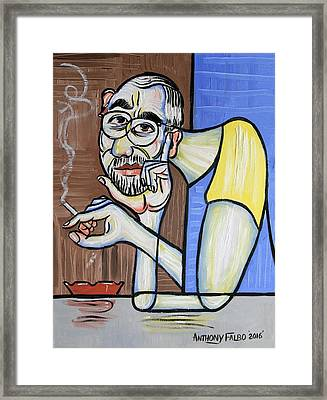 Self Portrait From My Perspective Framed Print by Anthony Falbo