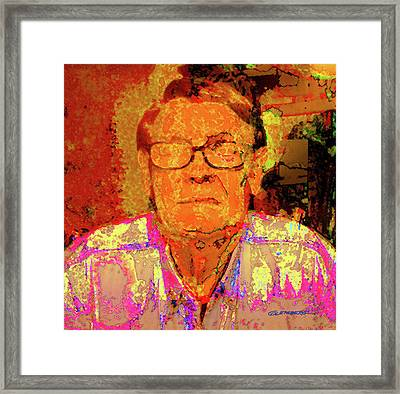 Self-portrait Framed Print by Dean Gleisberg