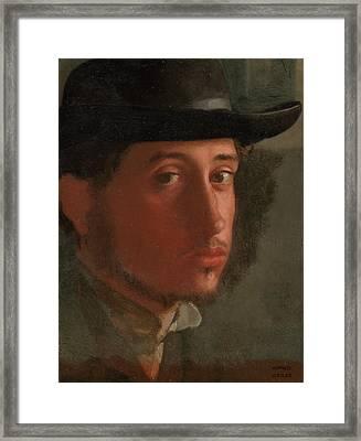 Self-portrait Framed Print by Edgar Degas