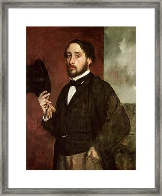 Self Portrait Framed Print by Edgar Degas